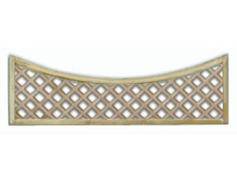 600mm x 1828mm Natural Treated Concave Standard Diamond Garden Trellis Panels