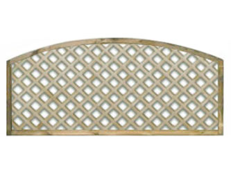 620mm x 1828mm Natural Treated Convex Standard Diamond Garden Trellis Panels