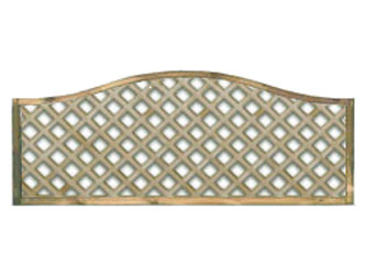 620mm x 1828mm Natural Treated Wave Standard Diamond Garden Trellis Panels