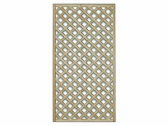 1828mm x 900mm Natural Treated Straight Standard Diamond Garden Trellis Panels