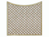 1524mm x 1828mm Natural Treated Concave Standard Diamond Garden Trellis Panels
