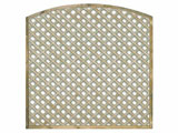 1828mm x 1828mm Natural Treated Convex Standard Diamond Garden Trellis Panels