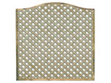 1828mm x 1828mm Natural Treated Wave Standard Diamond Garden Trellis Panels