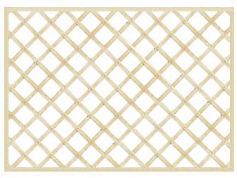 PAR Straight Heavy Duty Diamond 4in Garden Trellis Panels