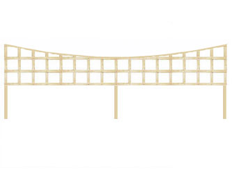 PAR Long Batten Concave Heavy Duty Standard 4in Garden Trellis Panels