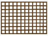 Brown Treated Standard Heavy Duty Trellis Panels