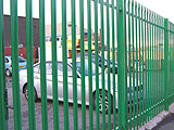 Steel Palisade Commercial Fence
