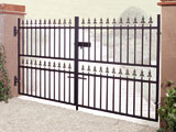 Wrought Iron Double Entrance Gates
